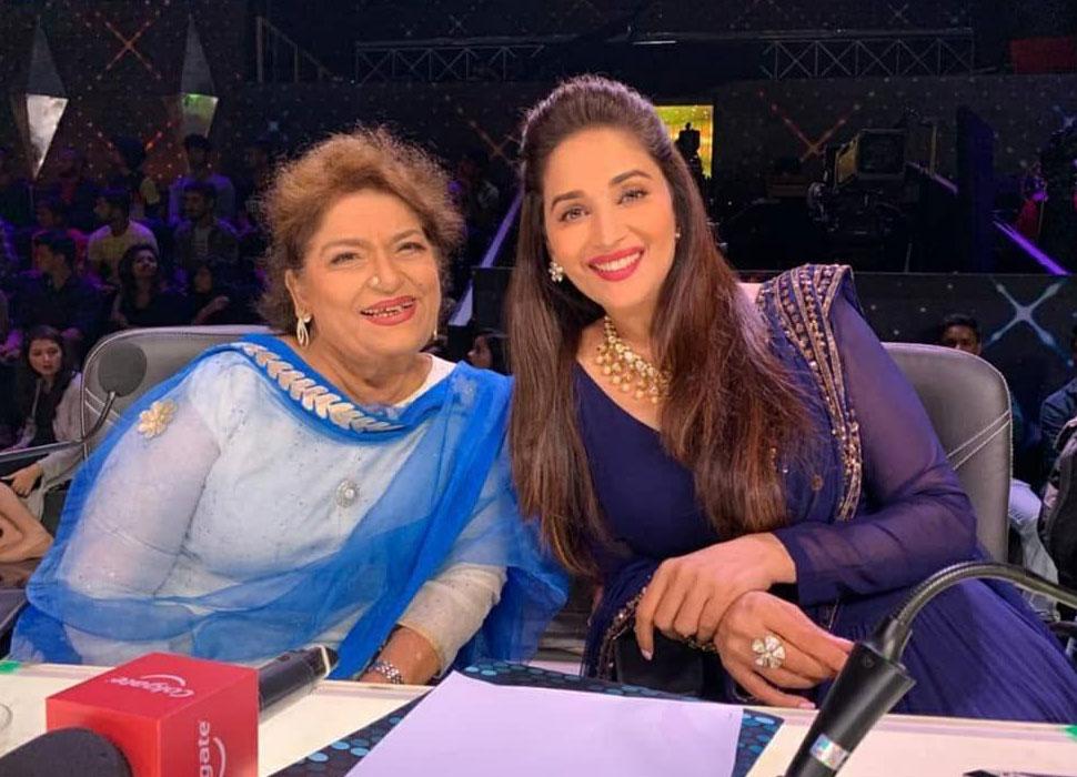 Madhuri Dixit and Saroj Khan