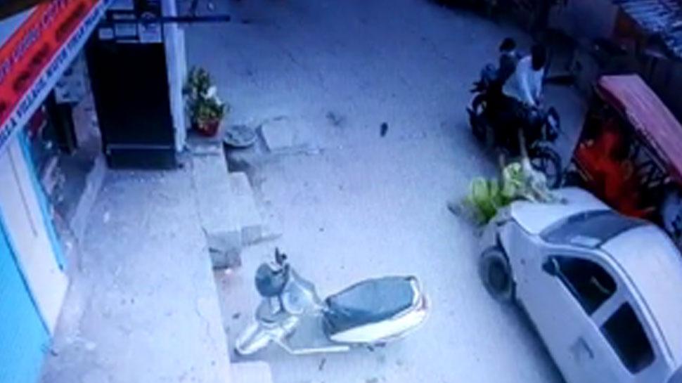 सब इंस्पेक्टर ने कार से महिला को 2 बार कुचला, सीसीटीवी में कैद हुई वारदात