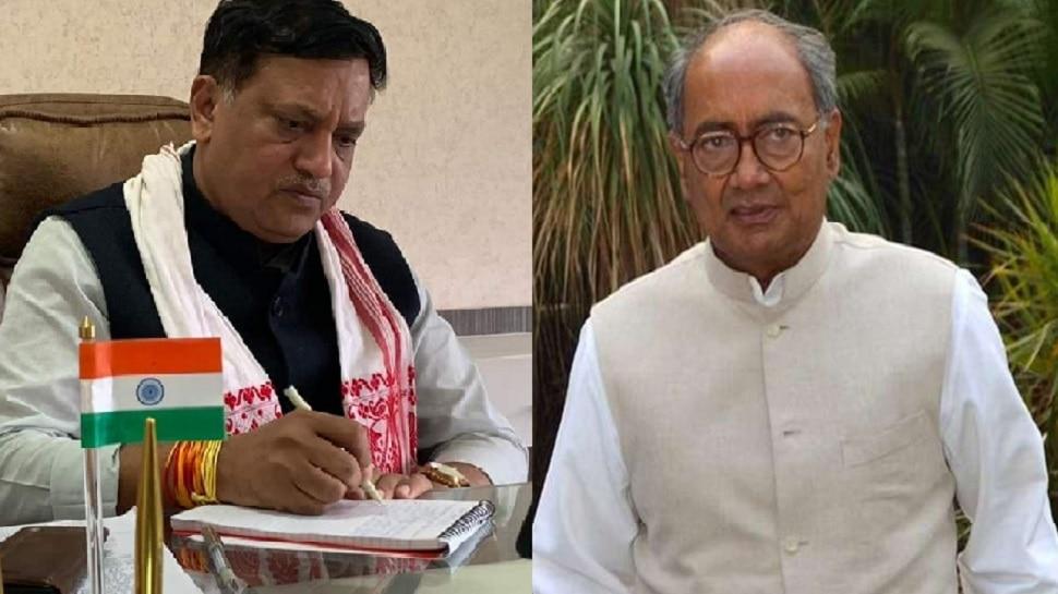 विकास दुबे एनकाउंटर: शिवराज के मंत्री ने दिग्विजय सिंह को बताया हिंदुस्तान का वायरस