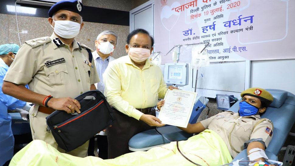 कोरोना के खिलाफ एम्स ने शुरू किया कैंपेन, 26 पुलिसकर्मियों ने डोनेट किया प्लाज्मा