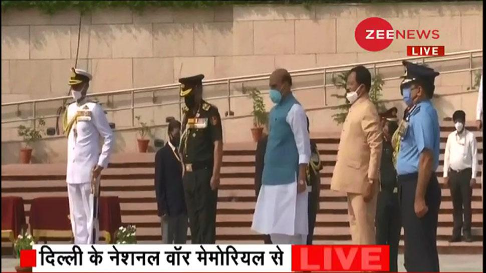 कारगिल विजय के 21 साल पूरे, नेशनल वॉर मेमोरियल पर रक्षा मंत्री ने दी शहीदों को श्रद्धांजलि