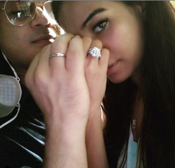 poonam pandey engagement ring