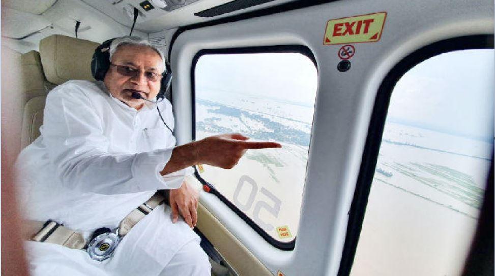 बिहार: बाढ़ग्रस्त इलाके का हवाई सर्वेक्षण करने निकले CM,राहत शिविर-किचन का करेंगे निरीक्षण