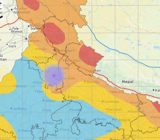 भूकंप के झटके से रोहतक कांपा, NCR में छोटे अंतराल के बाद फिर लगे झटके