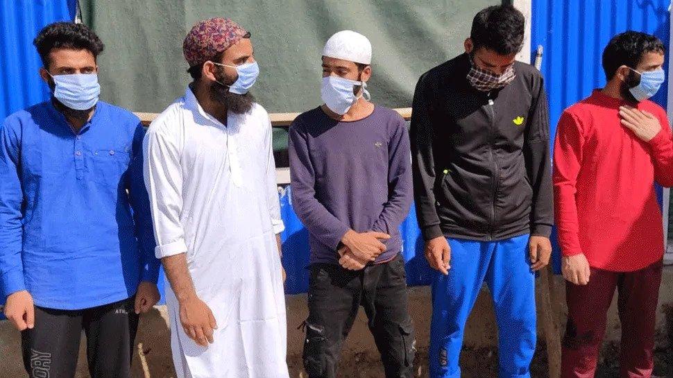 कश्मीर के बांदीपोरा में ISJK के 5 आतंकी गिरफ्तार, सेना पर हमले का बना रहे थे प्लान