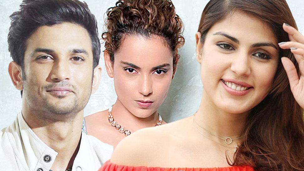 Kangana Ranaut targets Rhea Chakraborty on Sushant's mental illness plot |  सुशांत की मानसिक बीमारी की साजिश पर Kangana Ranaut के निशाने पर रिया  चक्रवर्ती | Hindi News, बॉलीवुड