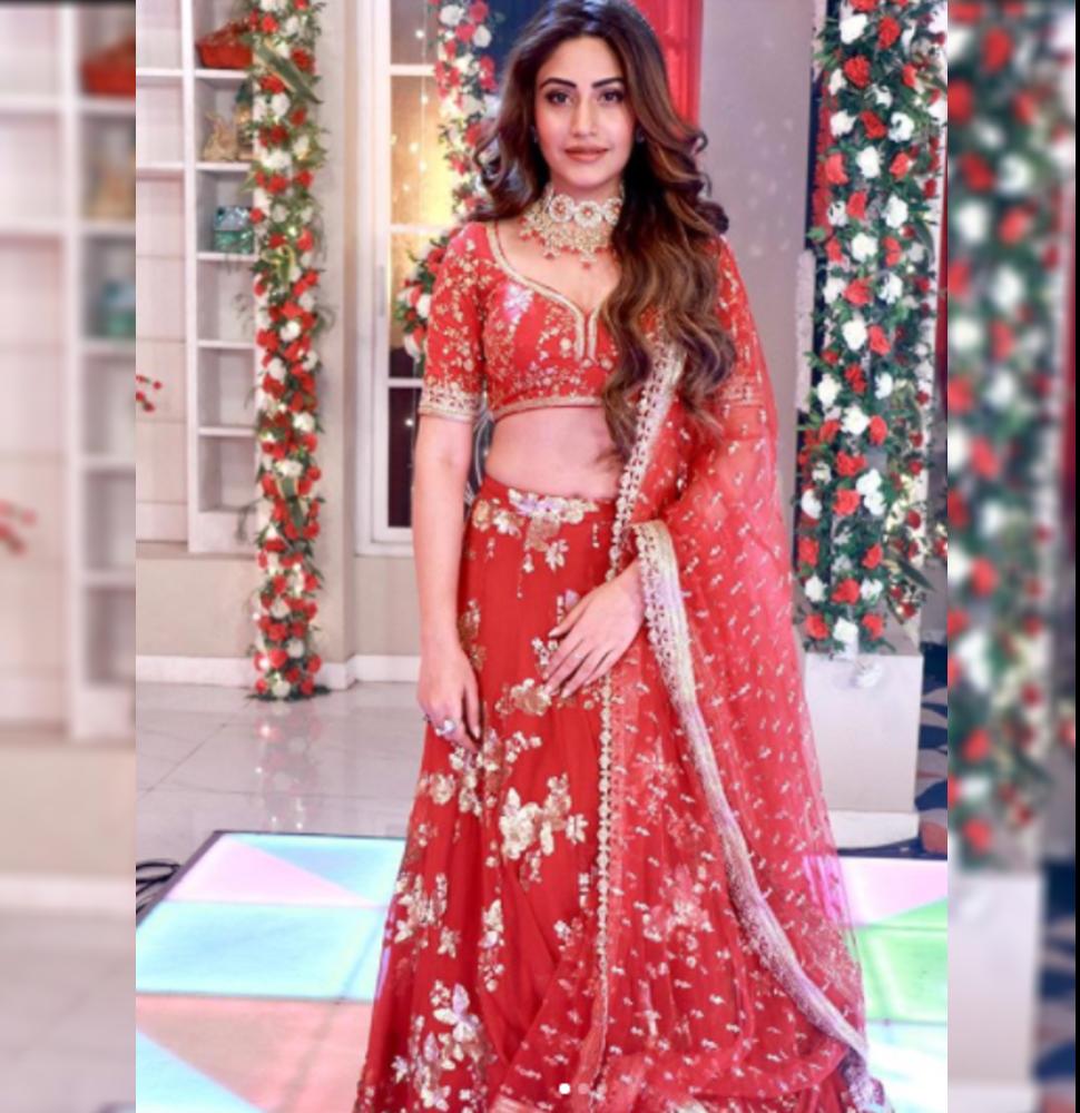 Surbhi Chandna in red dress