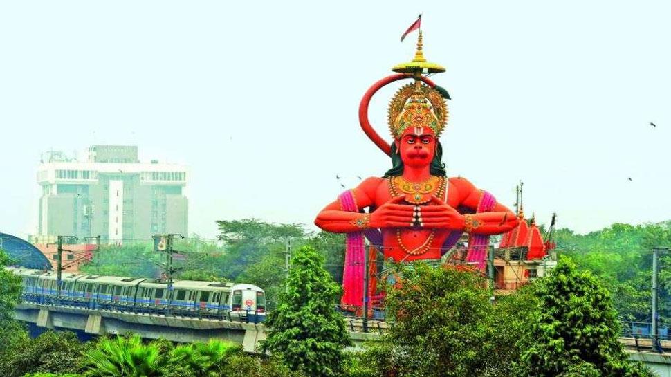 यहां 108 फीट ऊंचे हनुमान जी ऐसे कराते हैं श्रीराम और मां सीता के दर्शन