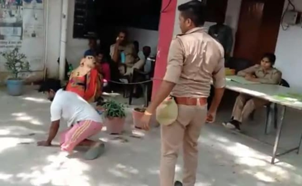 VIRAL VIDEO: सिपाही ने थाने में दिव्यांग को जमकर पीटा, लिया गया ये एक्शन