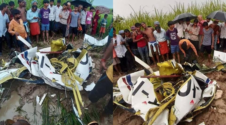 ट्रेनिंग के दौरान विमान दुर्घटनाग्रस्त, पायलट की मौत