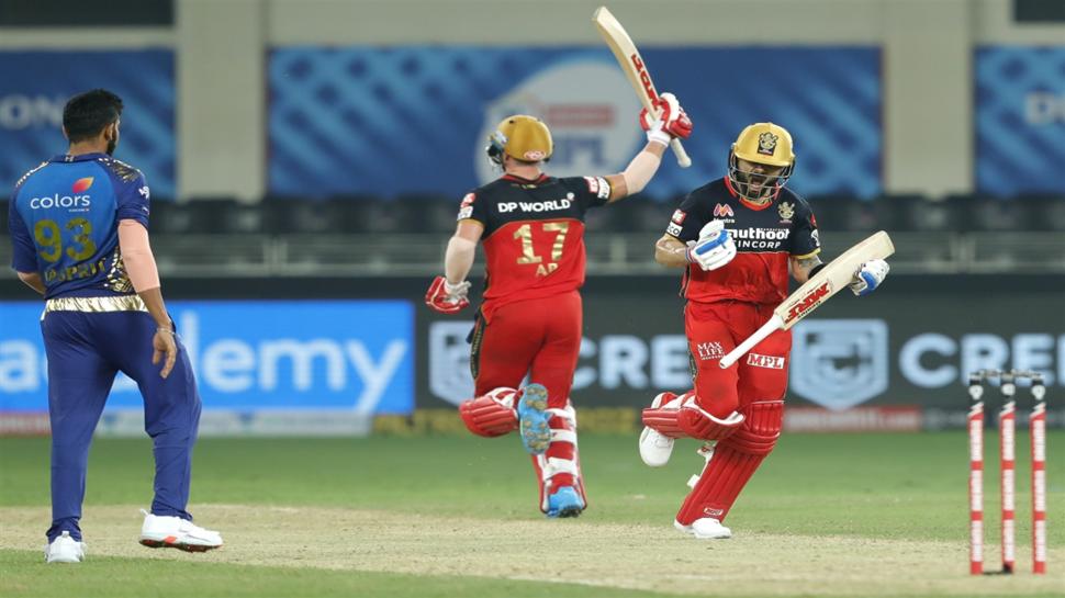 IPL 2020: RCB VS MI, सुपर ओवर में बैंगलोर ने मुंबई इंडियंस को दी शिकस्त