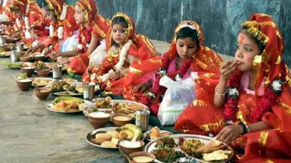 Know the significance of Kanjak pujan in Navratri Madhya Pradesh  Chhattisgarh | जानिए नवरात्रि में क्यों पूजी जाती है कंजक, क्या हैं इसके  महत्व? | Hindi News, मध्य प्रदेश एवं ...