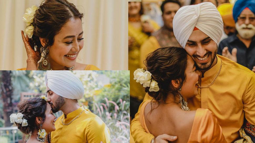Neha Kakkar and Rohanpreet Singh Haldi ceremony photos
