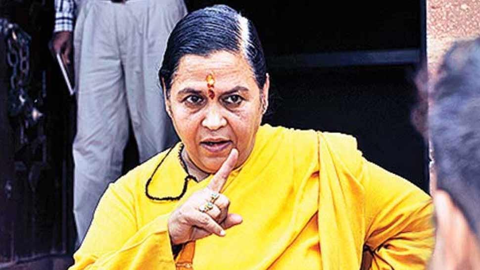 खाली कुर्सियां देख BJP नेताओं पर फूटा उमा भारती का गुस्सा, बिना भाषण दिए हुईं रवाना