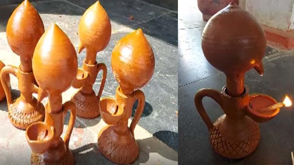 चौथी पास कलाकार ने बनाया 'साइंटिफिक दीया' एक बार तेल भरने पर जलता है 40 घंटे तक