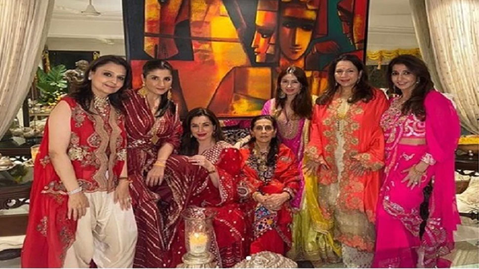 Karvachauth at Anil Kapoor's house