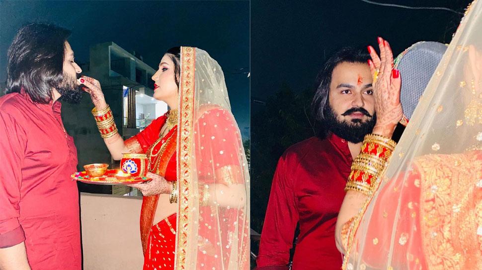 दुल्हन के लिबास में पति संग दिखीं Sapna Choudhary, लोग करने लगे ऐसे सवाल