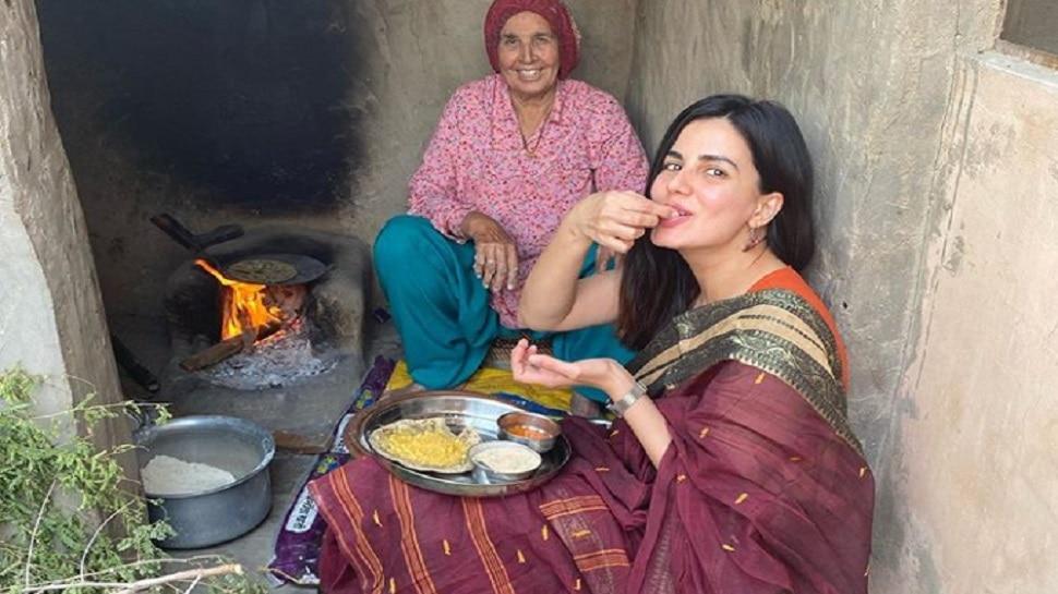 राजस्थान में बाजरा रोटी की आनंद ले रहीं अभिनेत्री कीर्ति कुल्हारी