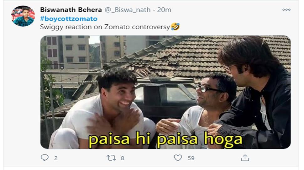 Arnab Goswami fans threaten to boycott Zomato after Swara Bhaskar asks  company to pull down ads | स्वरा के सवाल पर Zomato ने दिया ऐसा जवाब, अर्नब  गोस्वामी के फैंस ने निकाली