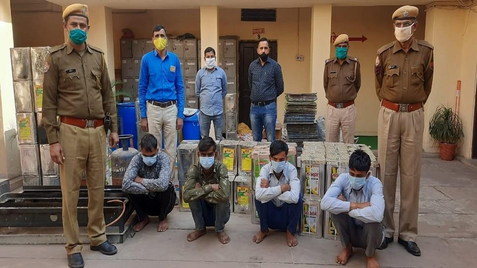 जयपुर: नकली देसी घी बनाने वाली फैक्ट्री पर पुलिस का छापा, भारी मात्रा में पीपे बरामद