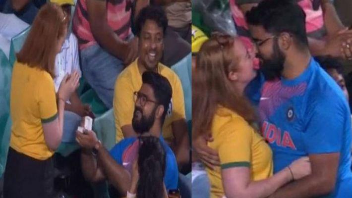 Team India का फैन Australian हसीना के आगे हुआ 'Clean Bowled', देखें Viral Video
