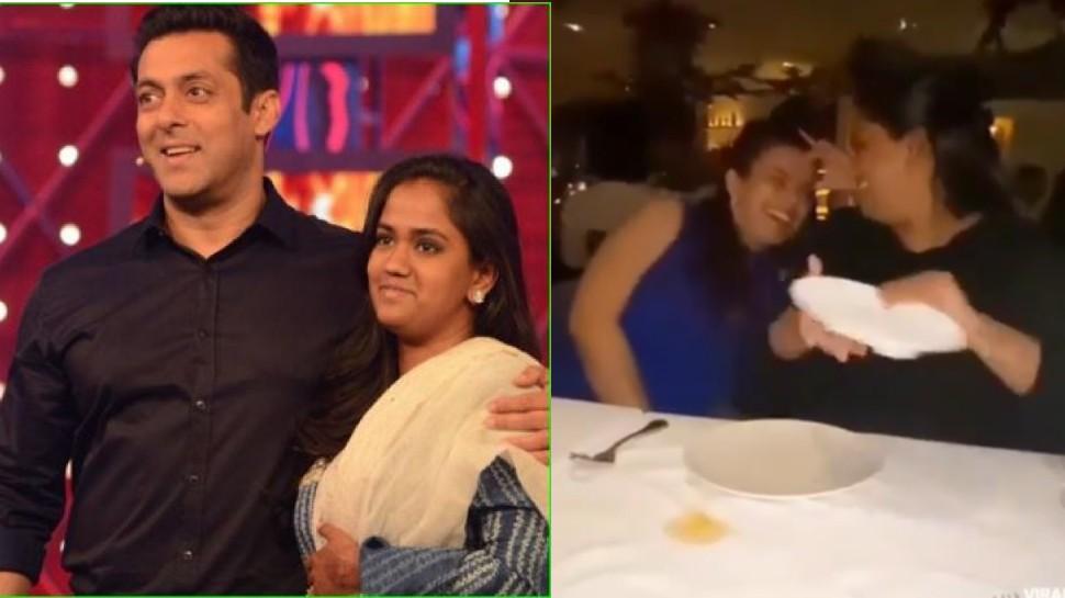 रेस्टोरेंट में प्लेट्स तोड़ती नजर आईं Salman Khan की बहन अर्पिता, तेजी से वायरल हुआ Video
