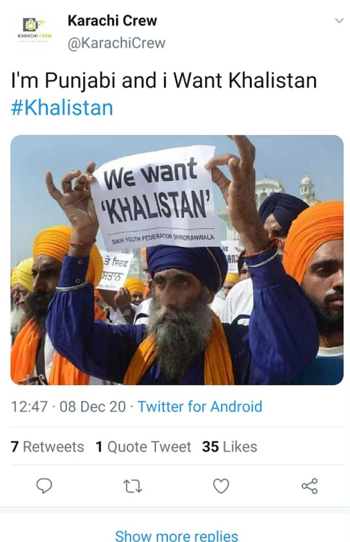 Khalistan movement running in Pakistan with Pakistans Twitter handles