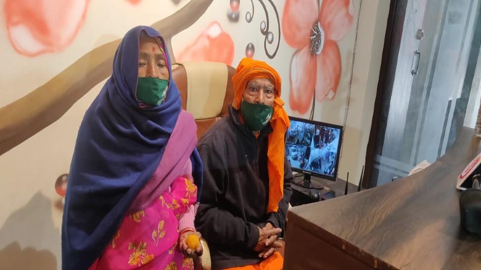 Baba Kanta Prasad with his wife Badami Devi at their new restaurant
