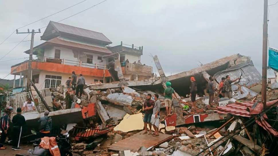 Indonesia में भूकंप के तेज झटके, 7 लोगों की मौत, 100 से ज्यादा ज़ख्मी
