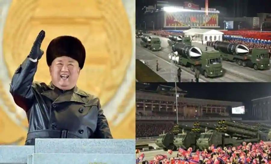 Kim Jong Un ने दुनिया को दिखाई अपनी ताकत, सैन्य परेड में नजर आई बेहद खतरनाक नई बैलिस्टिक मिसाइल