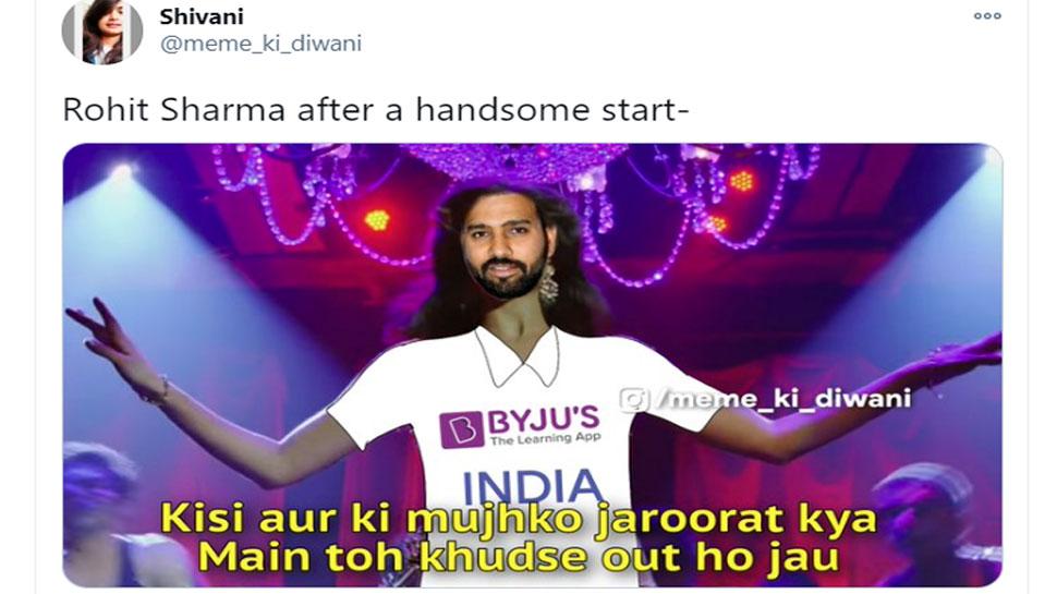 fans troll rohit sharma