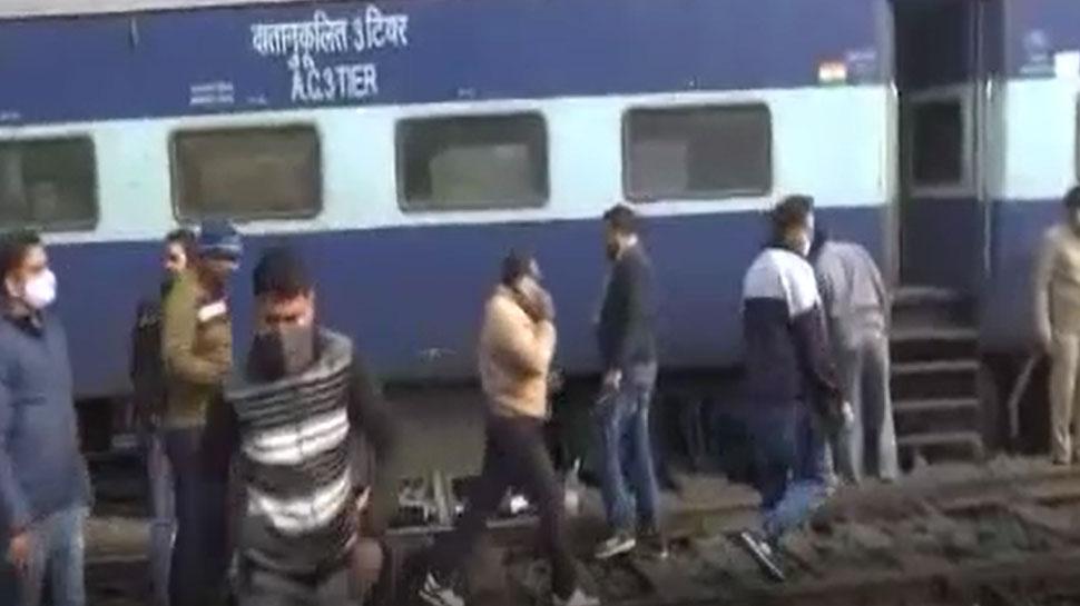 लखनऊ में पटरी से उतरी अमृतसर- जयनगर एक्सप्रेस ट्रेन, बाल-बाल बचे लोग