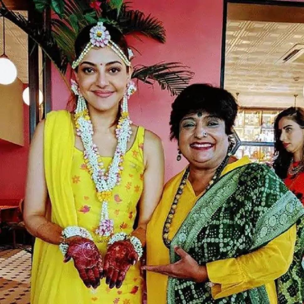 veena Nagda applied mehandi kajal aggarwal