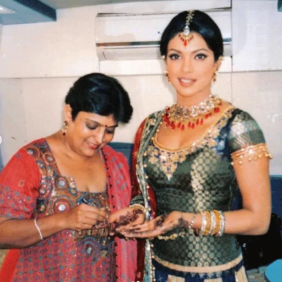 veena Nagda applied mehandi Priyanka Chopra