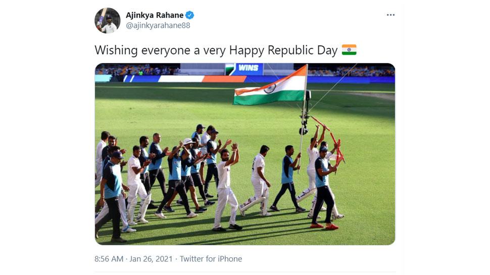 Ajinkya Rahane on Republic Day 2021