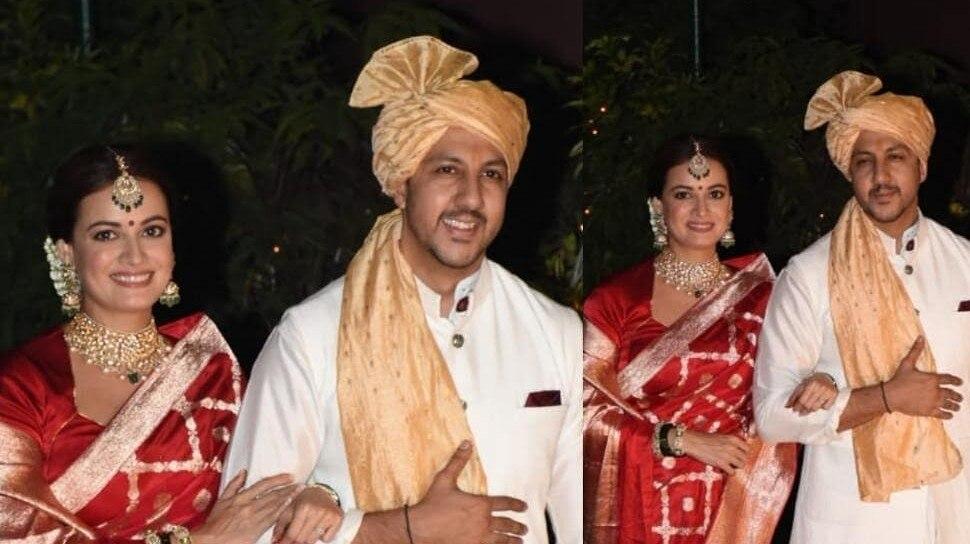 Dia Mirza Weds Vaibhav Rekhi: शादी के बंध में बंध गईं दिया मिर्जा, सामने आईं Photos