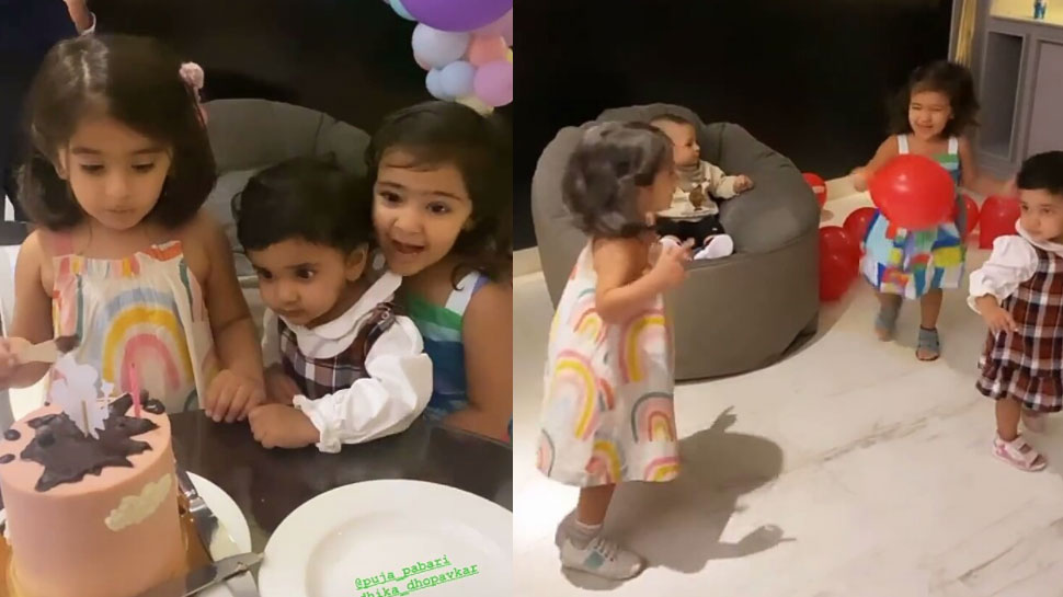 Cheteshwar Pujara की बेटी के बर्थडे में Rohit Sharma और इन क्रिकेटर्स के बच्चों का धमाल, वायरल हो रहा Video