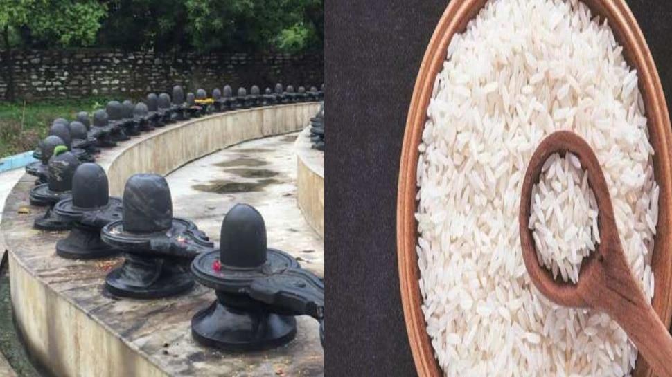 rice on shivling