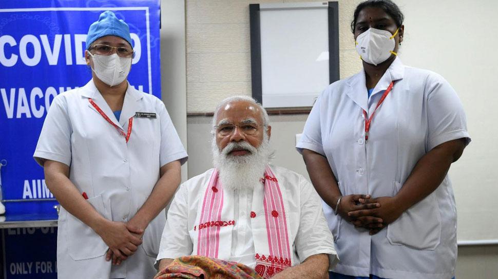 कोरोना टीका लगाते समय पीएम मोदी के गले में था असमिया गमछा, जानें इसकी खासियत