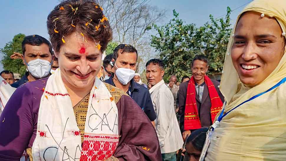 Priyanka Gandhi vadra says if our party comes into power in Assam we will  bring a law to cancel CAA | असम में बोलीं प्रियंका गांधी वाड्रा- सत्ता में  आए तो रद्द