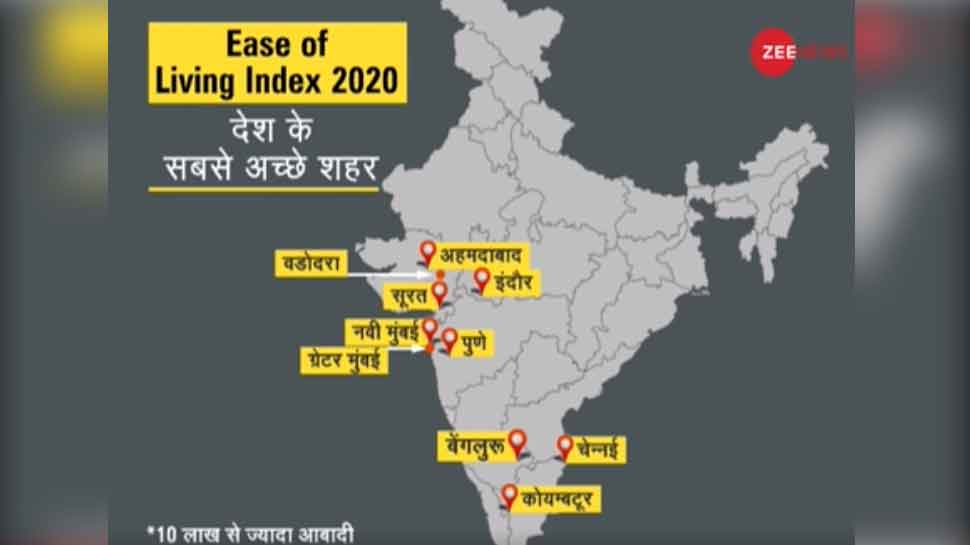 dna analysis ease of living index 2020 10 best cities to live in india