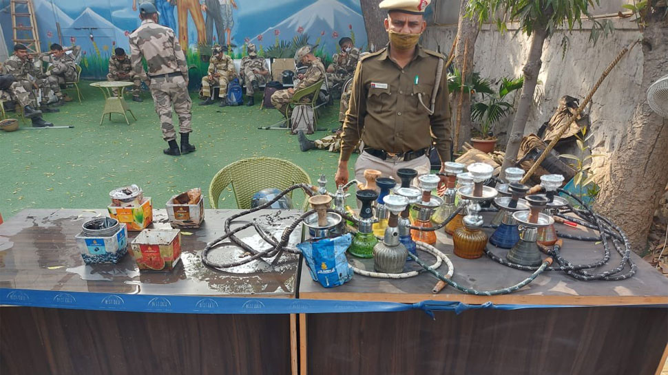 Illegal hookah bar party in rajouri garden delhi
