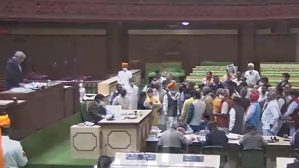 Rajasthan Assembly News : कथित फोन टैपिंग पर विधानसभा में हंगामा, BJP ने लगाया स्थगन प्रस्ताव
