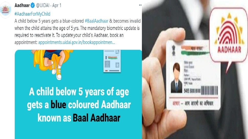 आम नहीं बच्चों के लिए बनता है नीले रंग का आधार कार्ड, जानिए बनवाने का फुल प्रोसेस