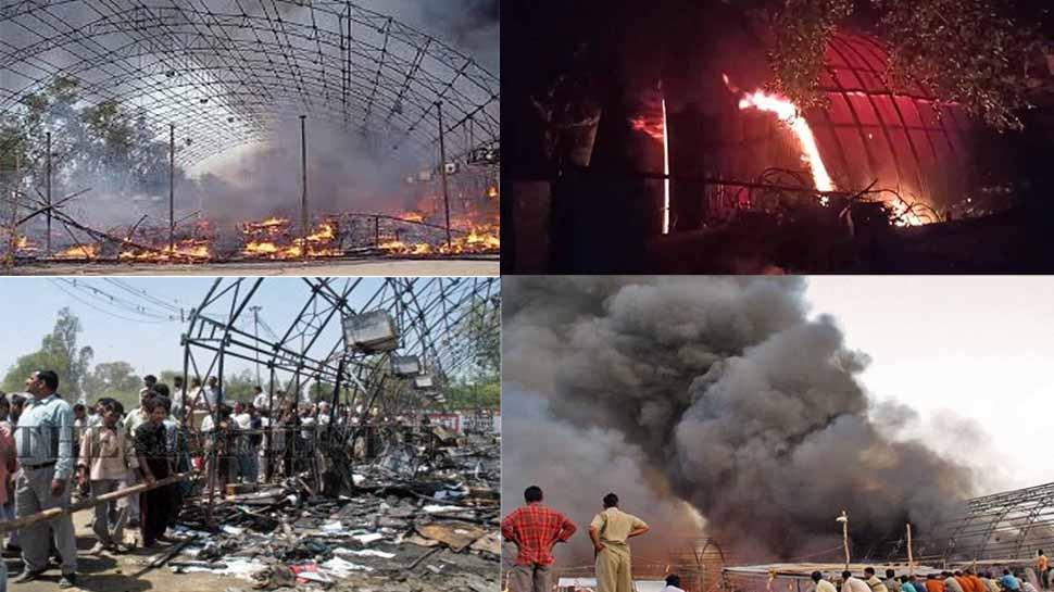 मेरठ का अग्निकांड: धधकती आग में जलते लोग, कोई घुसा गोबर में तो कोई नहा रहा था रेत-मिट्टी से