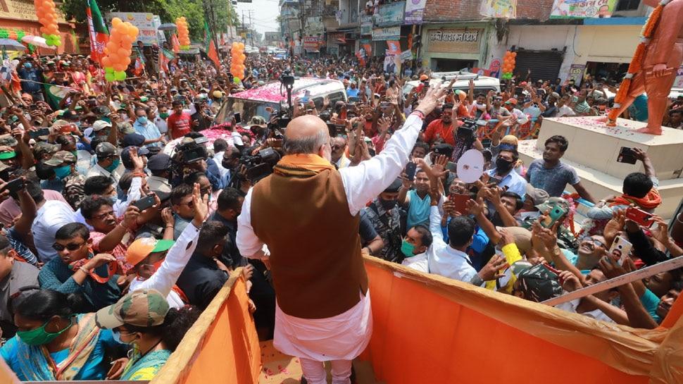 Amit Shah का Mamata Banerjee पर निशाना, कहा- 2 मई को धूमधाम से विदाई देगी बंगाल की जनता