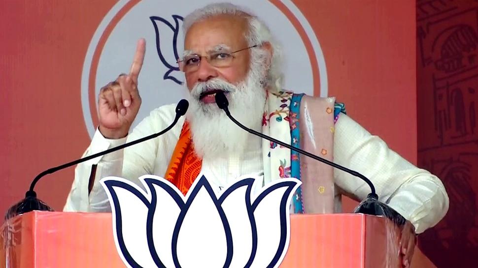 WB Election: बर्धमान में Mamata Banerjee पर PM Modi का निशाना, कहा- खेला करने वालों के साथ हो गया खेला
