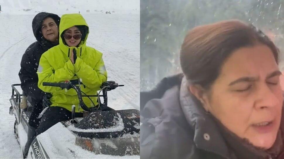 बर्फीली वादियों में Sara Ali Khan को सूझी मस्ती, मां अमृता सिंह डर से हुईं बेहाल- Watch VIDEO