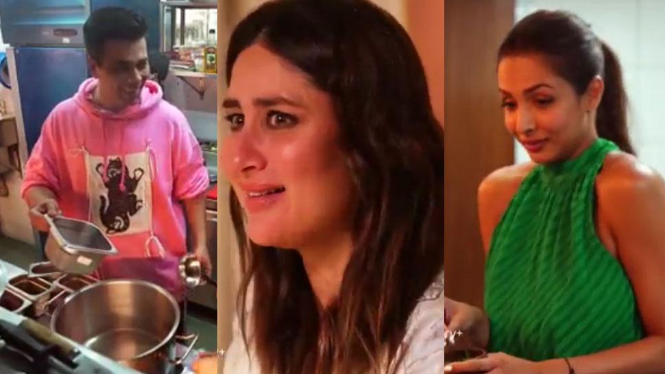 किचन में घुसते ही Karan Johar की निकली चीख, Kareena और Malaika की हालत हुई खराब- Watch Video