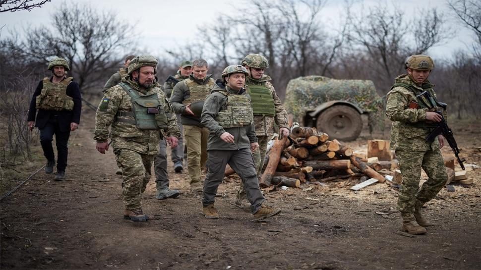 Ukraine President in Border Area